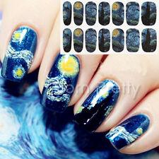 1 Stk Full Cover Aufkleber Stern Himmel Sticker Nagelfolie Nail Art Dekoration
