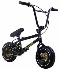 "FatBoy Assault Pro 10"" Mini BMX Bicycle Freestyle Bike Black Gold NEW 2017"