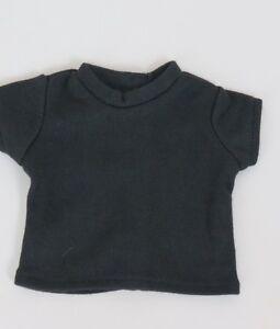 Black-T-Shirt-fits-American-Girl-Dolls-18-inch-Doll-Clothes-Short-Sleeve