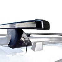 2 Roof Rack Cross Bars Universal Rails Car Wagon Suv Luggages Lock Crossbar on sale
