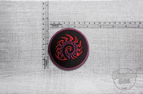 "Starcraft Zerg Swarm logo embroidered round patch 8cm x 8cm 3,2/"" x 3,2/"""