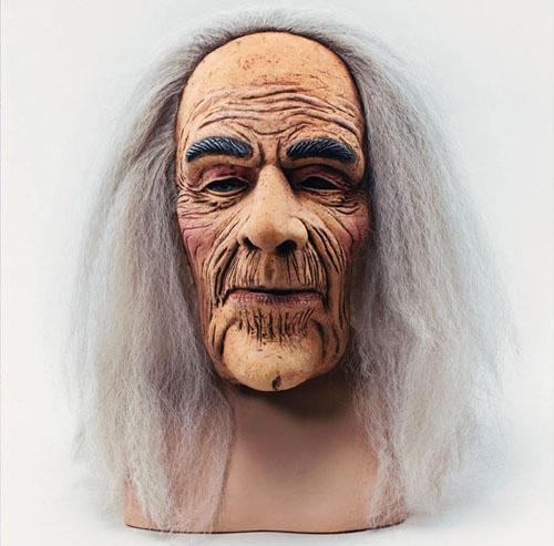 Halloween Scary Old Man Mask /& Hair Fancy Dress