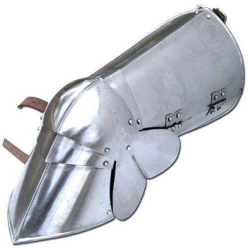 Forged Medieval Knight Leg Armor Poleyn Cuisse 18 Gauge Polished Steel Set