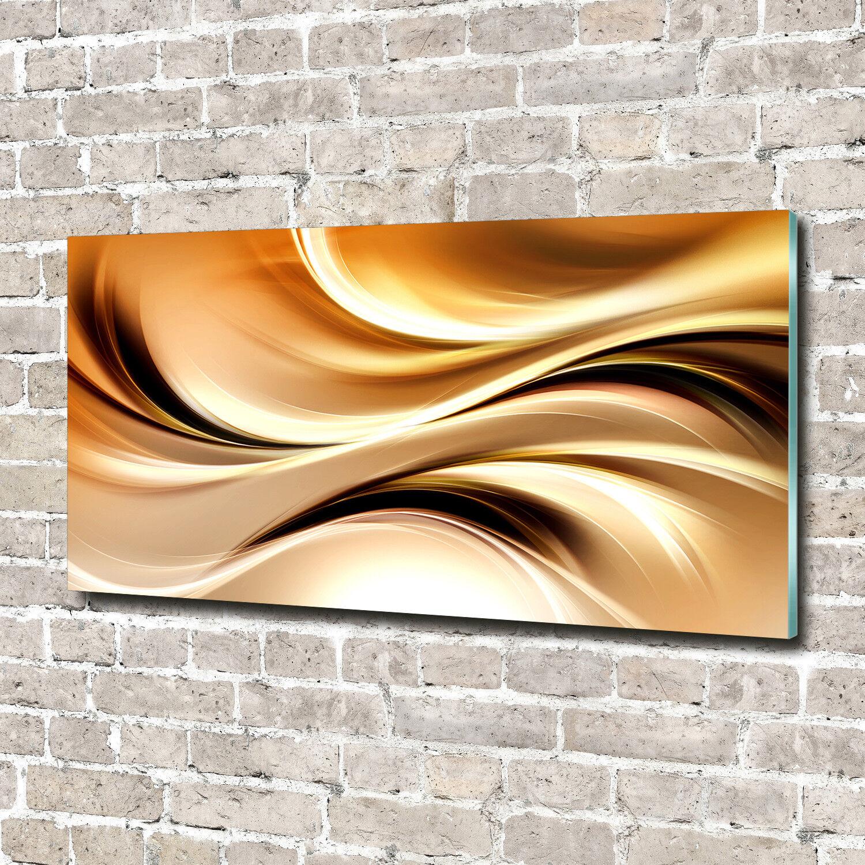 Glas-Bild Wandbilder Druck auf Glas 140x70 Deko Kunst Abstrakte Wellen