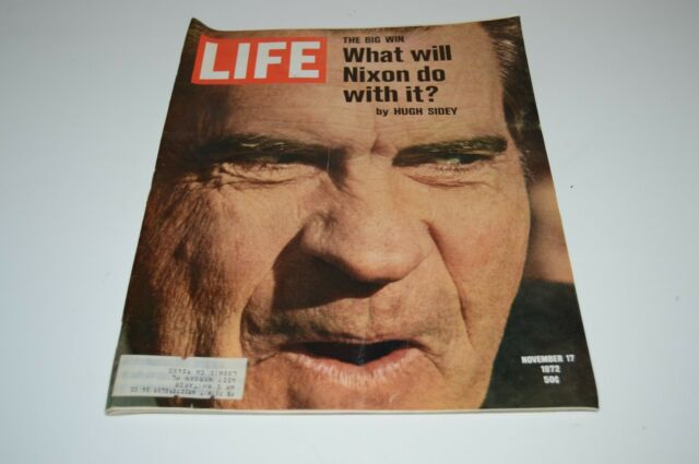 WOW Nice Vintage LIFE Magazine Richard Nixon Political November 17 1972 HTF