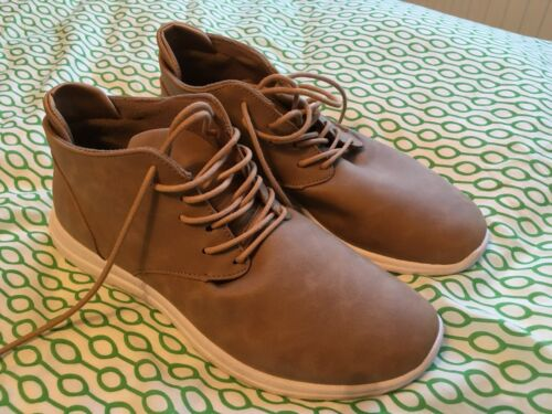 Marron clair Men/'s votre Turn High Top Bout Rond Lacets Baskets Chaussures UK 11 NEW