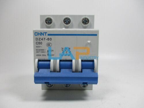 1PCS FOR CHNT Miniature Circuit Breaker DZ47-60 C50 3P 50A