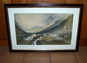 1868-LARGE-SCOTTISH-PAINTING-Signed-Dated-TURNER-STYLE-Listed-Artist-GLENCOE