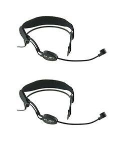 2 pcs Noise Canceling Headset Microphone Mic w Headband for AKG Wireless PT DPT