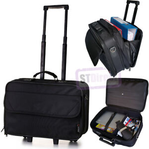 Details About Wheeled Laptop Bag Bussiness Briefcase On Wheels Roller Trolley Case Cabin