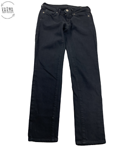 Citizens-of-Humanity-By-Jerome-Dahan-Slim-Skinny-Black-Jeans-Womens-Size-25-AI27