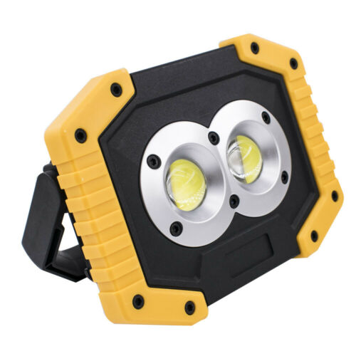 LED Work Light 2 COB Lights Power Bank f Outdoor Camping 30W USB Rechargeable