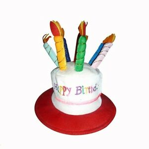 Image Is Loading Happy Birthday Hat With Candles