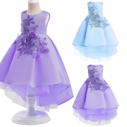 Kinder Mädchen Sommerkleid Prinzessin Kleid Festkleid Kommunionkleid 128 134 140