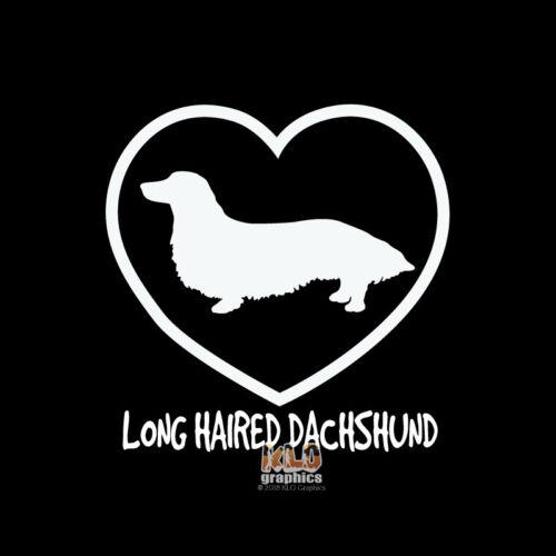 Decal AKC Registered Pet Dog Breed DACHSHUND LONGHAIR I Love My Vinyl Sticker