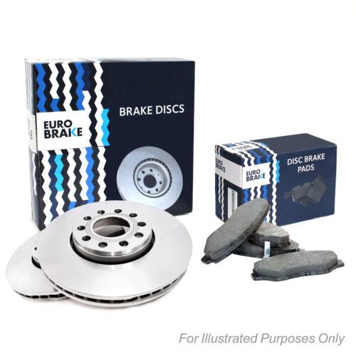 Genuine EuroBrake Rear Vented Brake Disc /& Pad Kit Set