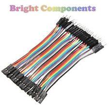 40pcs Dupont Jumper Ribbon Cable : 10cm : Male-Female : UK : 1st CLASS POST