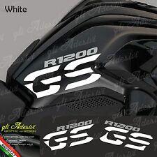 Set Adesivi Fianco Serbatoio Moto BMW R 1200 gs LC White