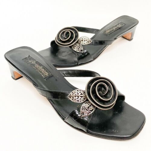 Brighton Women's Shoes Kassie Black Leather Rose S