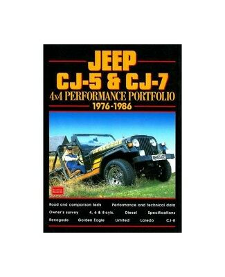 JEEP CJ BOOK CJ7 CJ5 PORTFOLIO PERFORMANCE