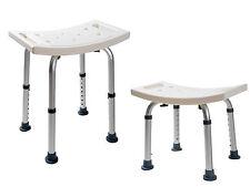 New 7 Height Adjustable Medical Shower Bench Bathtub Bath Chair Seat Stool  White