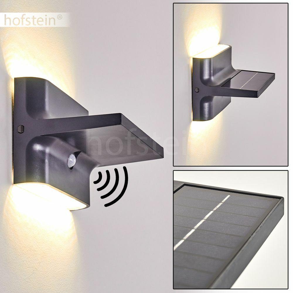 LED Haus Tür Einfahrt Terrassen Lampen Bewegungsmelder Außen Wand Leuchten Solar