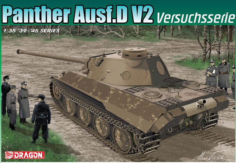 Dragon 1 3 5 6830  Panther ausf.d V2 versuchsserie