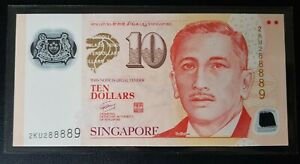 Singapore-10-Polymer-Potrait-Banknote-With-Fancy-Number-2KU-288889