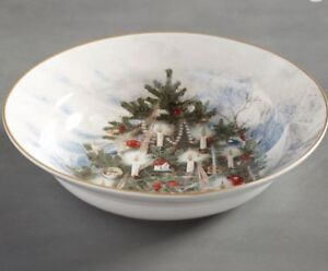Pottery-Barn-NOSTALTGIC-TREE-Serving-BOWL-Christmas-Holiday-New-sold-out