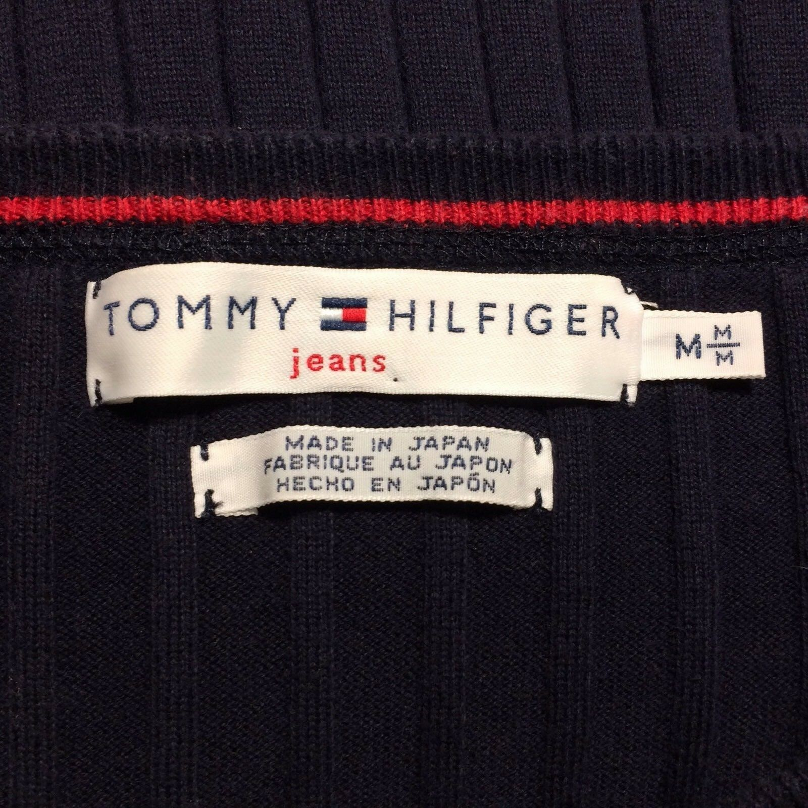 TOMMY HILFIGER  Damen Pullover Pullover Pullover M 38 Blau Rippen Shirt Oberteil Top Casual Style   New Style  56cb63