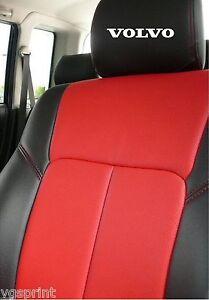 6 x volvo car headrest decals stickers graphics logo. Black Bedroom Furniture Sets. Home Design Ideas