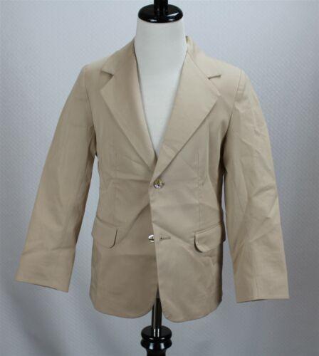 NWT Oscar de la Renta Boys Blazer Jacket Beige Stretch Cotton Blend MSRP $300