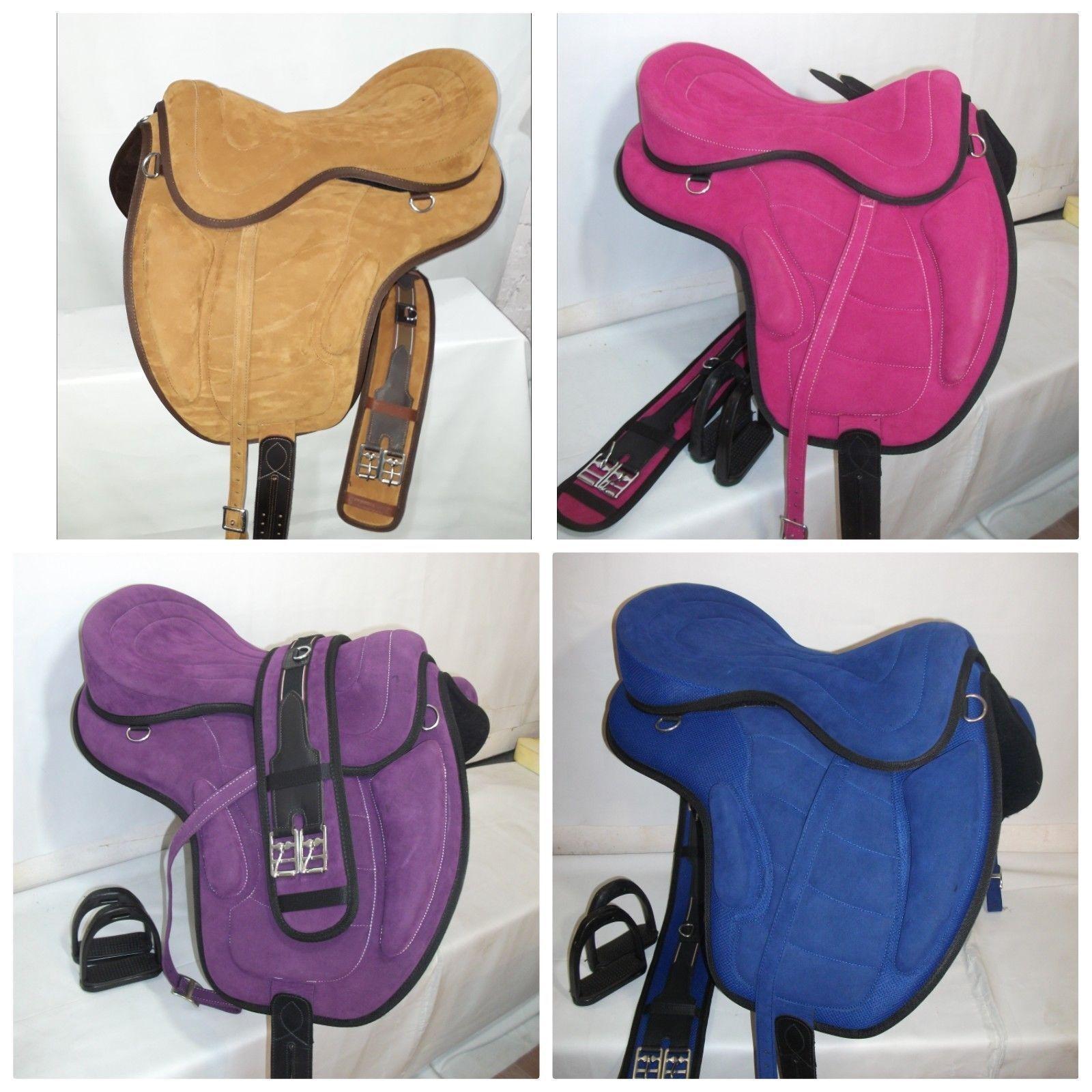 Treeless Freemax Synthetic Suede Saddle English Saddle All Sizes