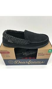 277bc1501c44 NEW Men s DEARFOAMS Memory Foam Slippers Indoor Outdoor XL 13-14 ...