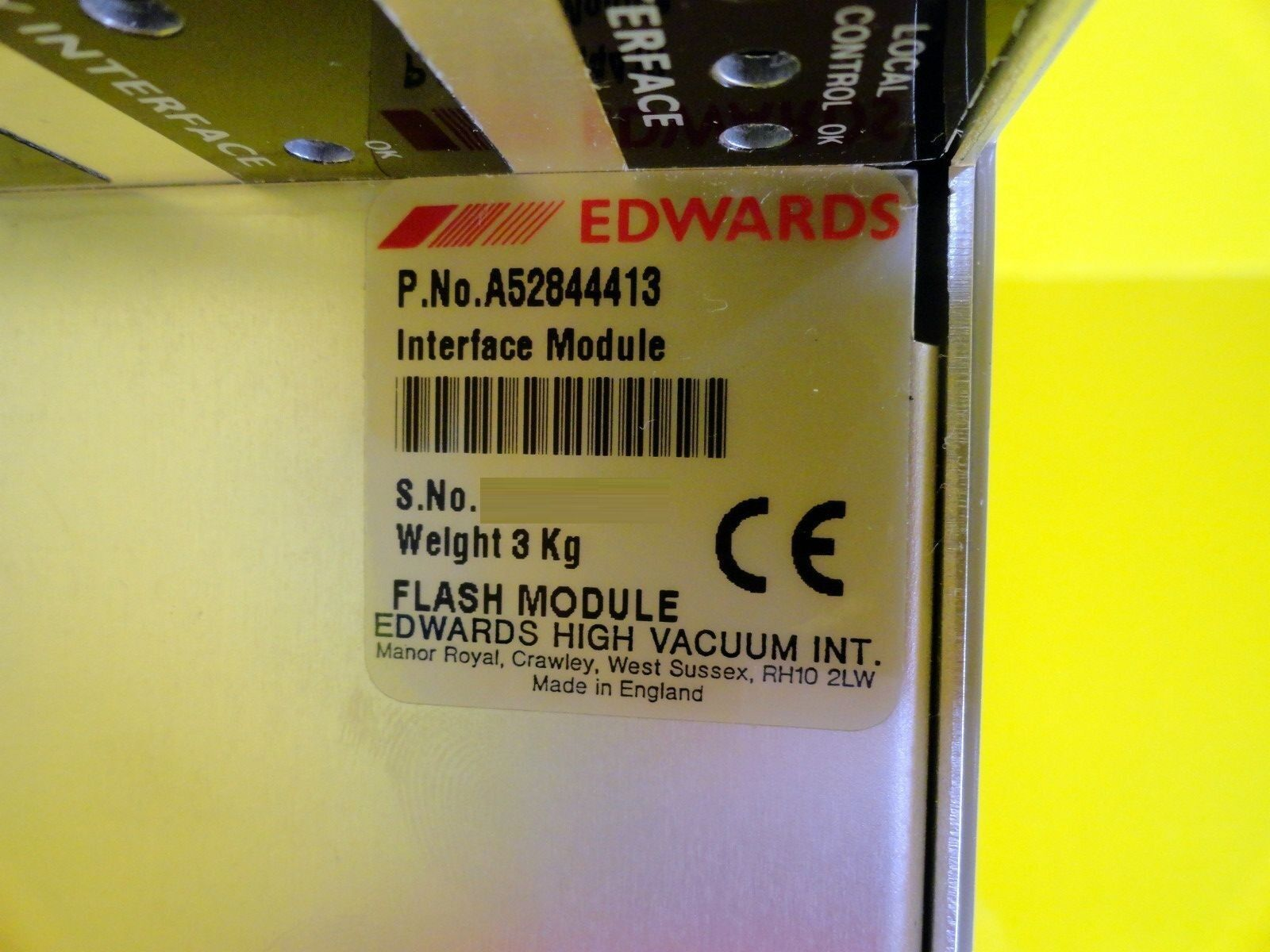 BOC Edwards A52844413 Flash Controller Interface Module