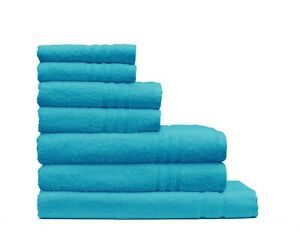 7 Pieces Luxury Bath Towel Set - 100% Worldwide Renowned Turkish Cotton-550 GSM
