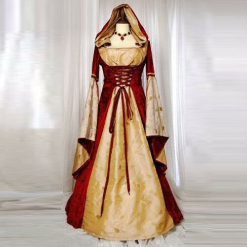 Medieval Palace Queen Princess Halloween Cosplay Costume Luxury Lace-up Dress