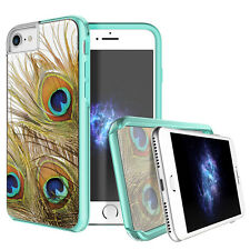"""Prodigee Show Peacock Clear iPhone 7 4.7"""" Clear 2 Piece Case Slim Thin Cover"""