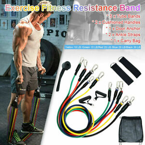 11-PCS-Set-Resistance-Band-Yoga-Pilates-Abs-Exercise-Fitness-Tube-Workout-Bands
