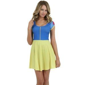 Disney-Juniors-I-Am-Snow-White-Skater-Costume-Dress-New-XS-S-M-L