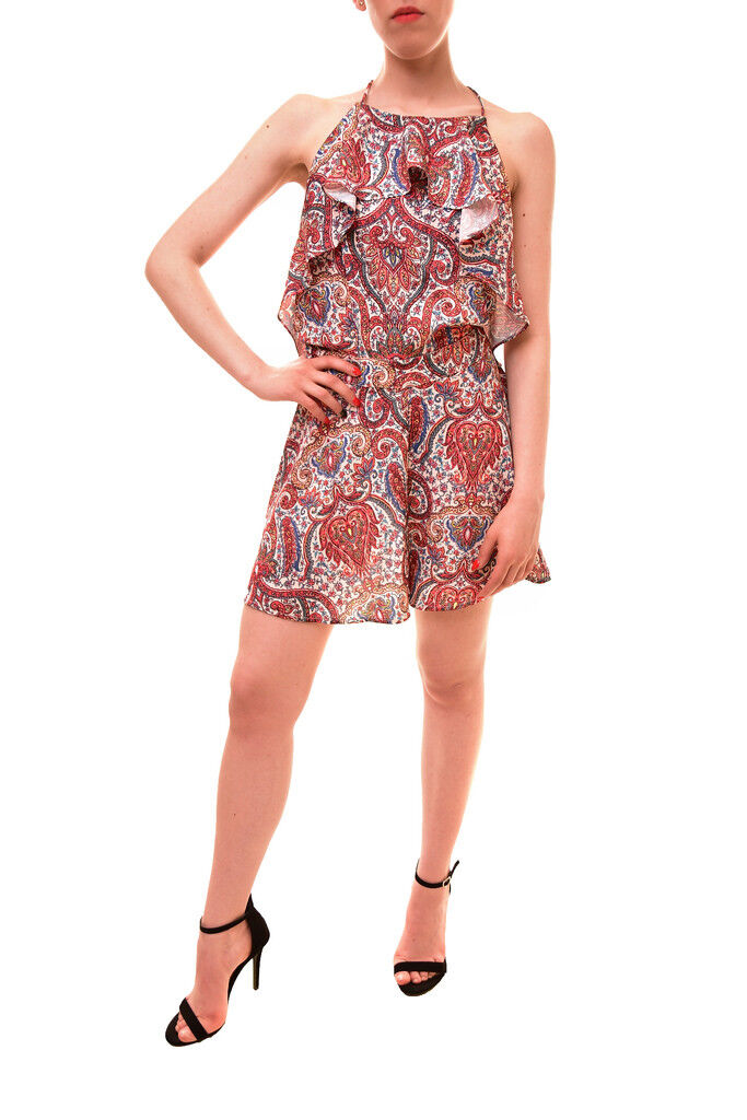 Finders Keepers Women's Willow Playsuit Henna Print Small S RRP  BCF85