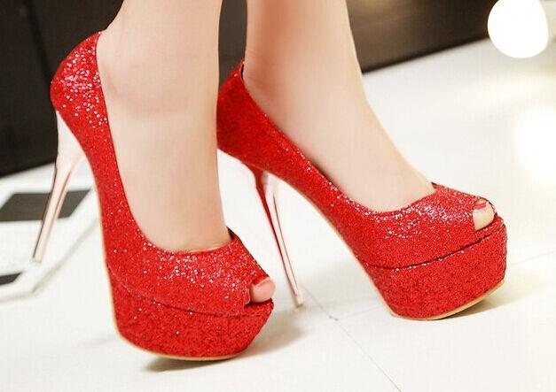 Décollte Chaussures éscarpins strass femme talon aiguille aiguille aiguille plateau 1.5 cm rouge | Structurels élégantes  8963e4