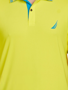 Nautica Performance Navtech Polo Shirt Size 2XL colors  Blazing Yellow & bluee