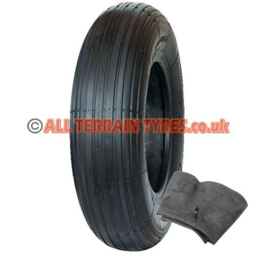 2.50-3 2.50x3 250-3 250x3 Wheelbarrow Scooter Tyre /& Inner Tube Bent Metal Valve