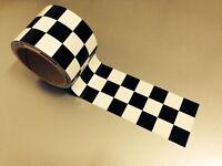 Checkered Flag Vinyl Decal Tape Motorcycle Helmet Bike Fairing Tank Sticker