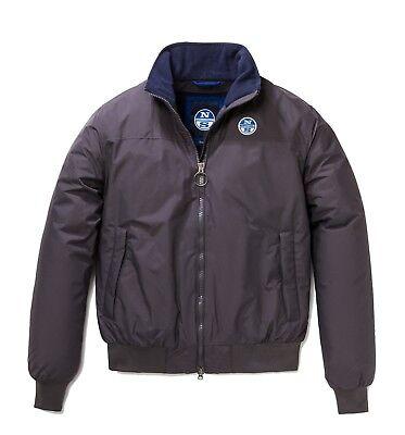 Dettagli su Giacca invernale uomo North Sails giaccone con cappuccio giubbotto bomber blu