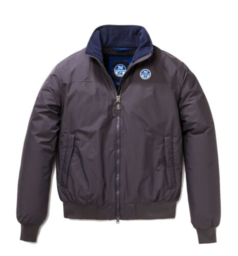 North Impermeabile Lead Bomber In Uomo Sailor Sails Pile Interno Slim Giacca fYdqd