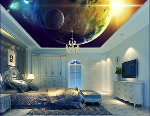 3D Sun Earth Space 8 Ceiling WallPaper Murals Wall Print Decal Deco AJ WALLPAPER