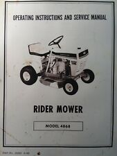 Huffy Sheraton 4868 Riding Lawn Mower Tractor Owner Service Amp Parts Manual 1969
