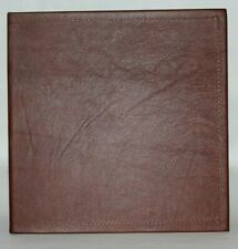 New Listingsmooth Dark Chocolate Cowhide Leather 2 3 Ring Binder White Alligator Lining